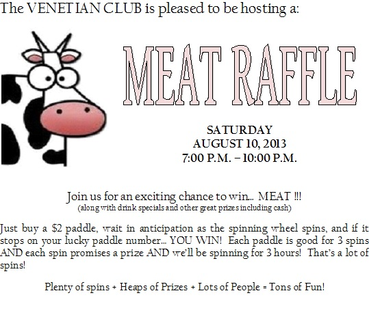 The venetian club meat raffle bar party for Fish fry rockford il