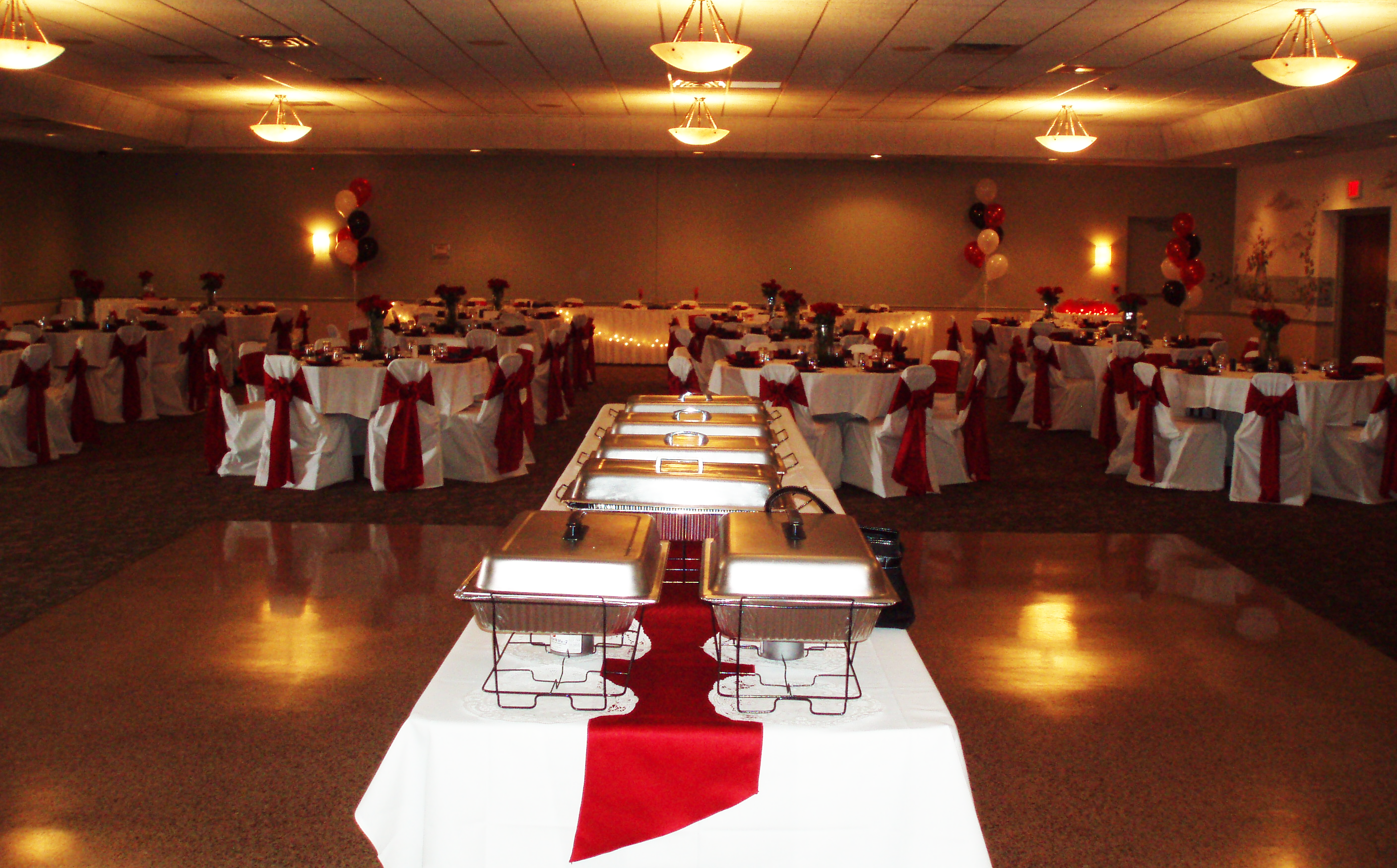 Venetian Club Banquet Hall Catering Red Wedding Reception